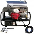 Pressure-Pro Professional 3000 PSI (Gas - Hot Water) Super Skid Belt-Drive Pressure Washer w/ Electric Start Honda Engine