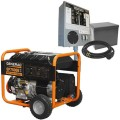 Generac GP7500E - 7500 Watt Electric Start Portable Generator w/ Power Transfer Kit