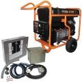 Generac GP17500E - 17,500 Watt Electric Start Portable Generator w/ Power Transfer Kit