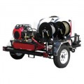 Pressure-Pro Professional 3500 PSI (Gas-Cold Water) Trailer Pressure Washer With Belt-Drive